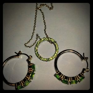 Green Necklace and Earrings set